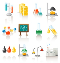 chemical objects vector image vector image