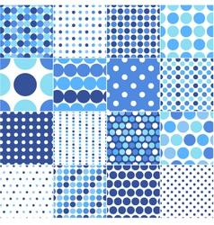 circular polka dots background texture vector image vector image