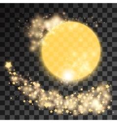 Golden star dust vector image