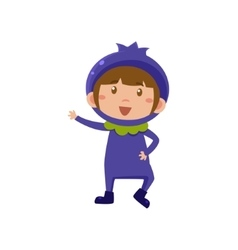 Kid In Blueberry Costume vector image vector image
