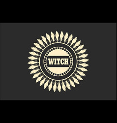 stamp with witch text vector image