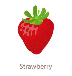 strawberry icon isometric 3d style vector image