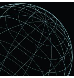 wireframe globe vector image vector image