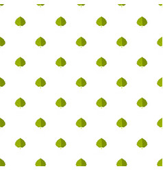 aspen leaf pattern seamless vector image