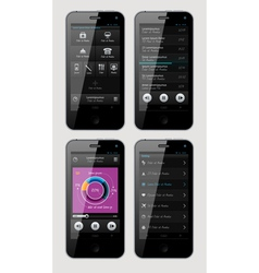 interface for phone vector image vector image