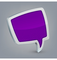 Purple cloud speech vector image vector image