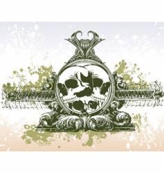 skull grunge portal illustration vector image vector image