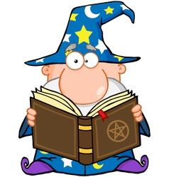 Wizard Holding A Magic Book vector image vector image