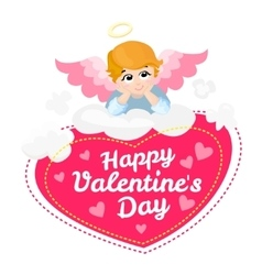 Baby angel cartoon character Happy vector image