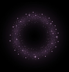 circle of glitter particles purple color vector image vector image