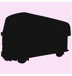Double-decker london bus vector