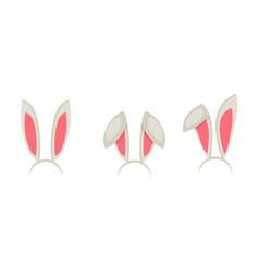 easter bunny ears mask cartoon vector image