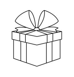 christmas present box gift ribbon decoration vector image