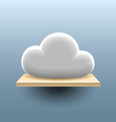 Cloud on the shelf vector image vector image