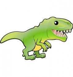 cute tyrannosaurus Rex dinosaur illustration vector image