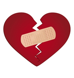 Fix a broken heart concept vector image vector image
