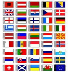 flags Europe vector image vector image