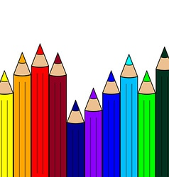 Seamless Pattern with Color Pencils Rainbow Colors vector image vector image