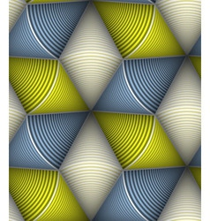 Striped Circle Cone 3d Seamless Seamless Pattern vector image