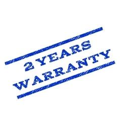 2 Years Warranty Watermark Stamp vector image