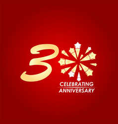 30 year celebrating anniversary template design vector