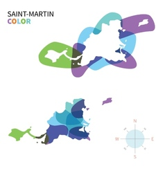 Abstract color map of saint-martin vector