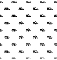 Ambulance pattern simple style vector