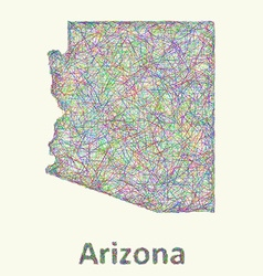 Arizona line art map vector
