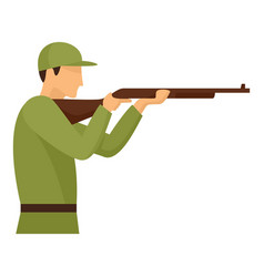 Army shooter icon flat style vector