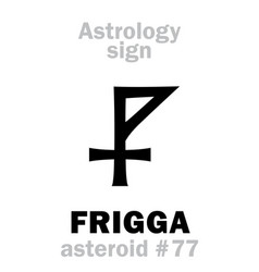 Astrology asteroid frigga vector