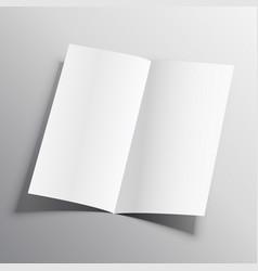 bi-fold paper mockup design template vector image