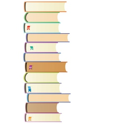 books with bookmarks vector image