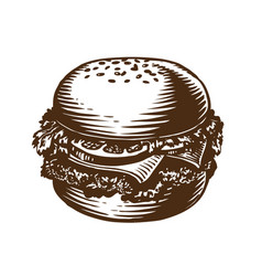 Burger hamburger cheeseburger american fast vector