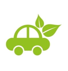 car ecology isolated icon vector image
