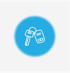 car key icon sign symbol vector image
