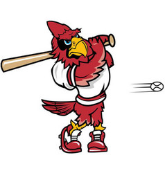 Cardinal baseball sports logo mascot vector