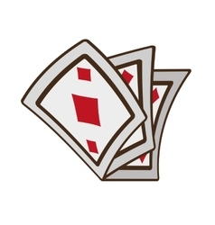 Cartoon ace pocker magic vector