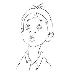 Cartoon image of amazed boy vector
