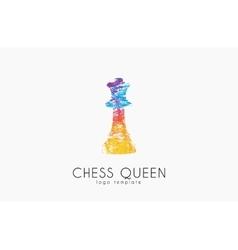 Chess queen logo Queen logo Chess logo Creative vector image