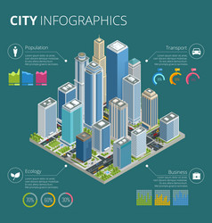 city infographics isometric city vector image