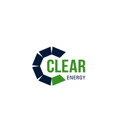 clear energy sign vector image