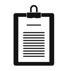 Clipboard with checklist icon simple style vector