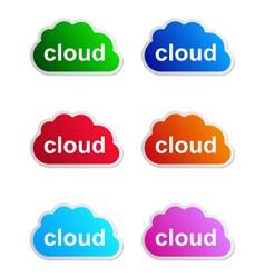 Cloud label vector image
