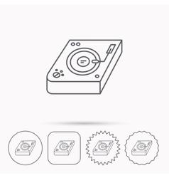 Club music icon DJ track mixer sign vector image