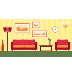 color interior of cartoon living room EPS 1 vector image