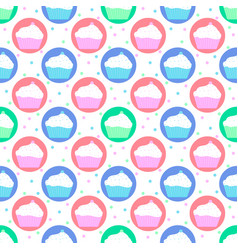 Colorful pattern of cakes vector