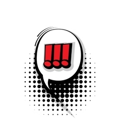 Comic text exclamation sound effects pop art vector