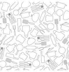 Cooking seamless pattern Kitchen utensils vector image
