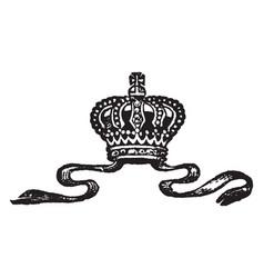 Crown vintage engraving vector