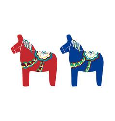 Dalecarlian horse swedish wooden horse vector